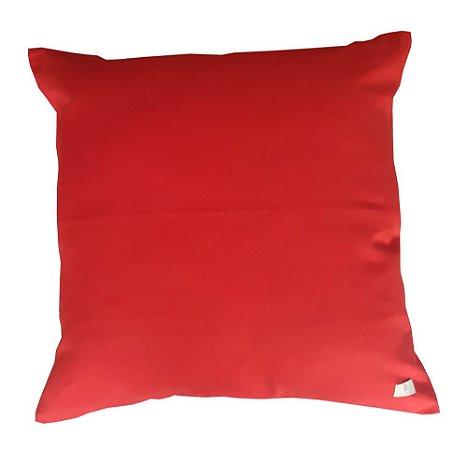 Almofada Lisa Vermelha 50 x 50cm