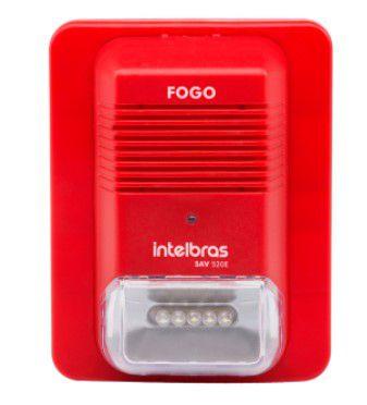 Sinalizador audiovisual endereçável SAV 520E Intelbras