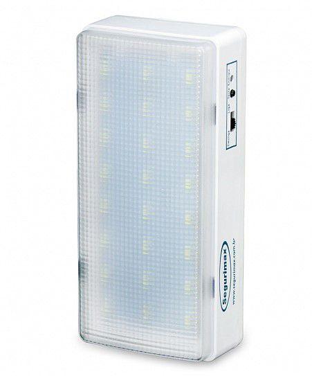 Iluminação de Emergência autônoma LED 200 lumens Segurimax