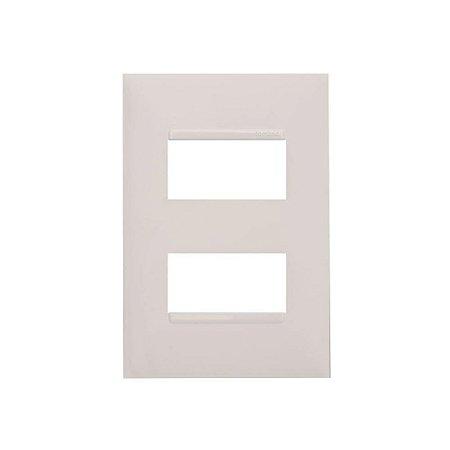 Placa 2 Postos Separados 4x2 Branca Pial Plus Mais