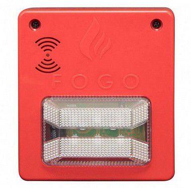 Sinalizador Audiovisual com Sirene 12V Convencional Segurimax