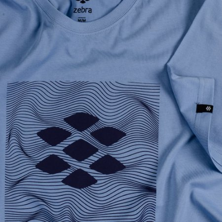 Camiseta Zebra Masculina Azul Serie RC00101-0005-006-30