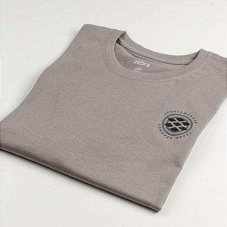 Camiseta Zebra Masculina Cinza Serie RC00101-0005-002-21