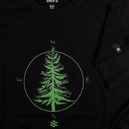 Camiseta Zebra Masculina Preto Serie RC00101-0005-014-10