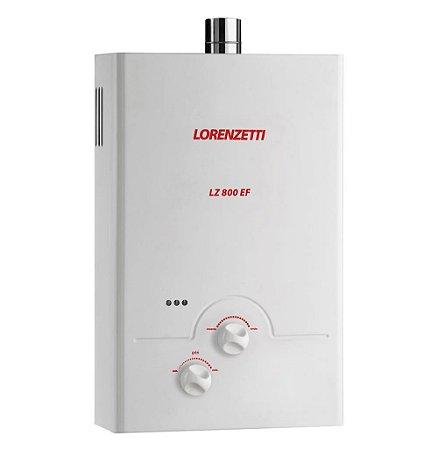 Aquecedor de água a gás Lorenzetti LZ 800 EF  - Gás Natural - Exaustão Forçada - Vazão 8,0L