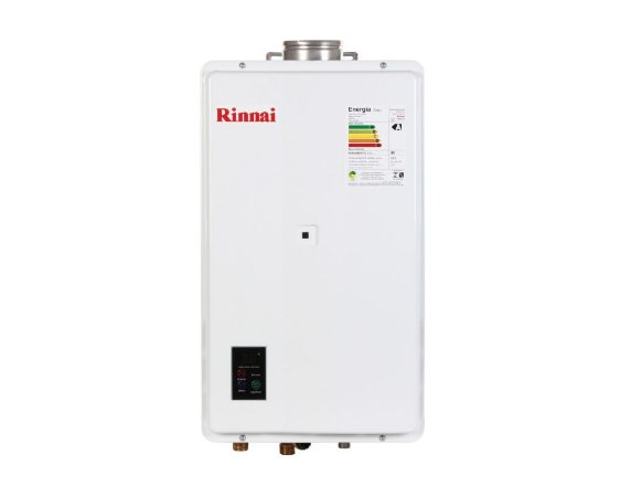 Aquecedor de água a gás Rinnai REU 2402 FEH - Gás Natural - Exaustão Forçada - Vazão 32,5L