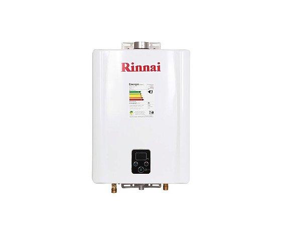 Aquecedor de água a gás Rinnai REU E21 FEHB - Exaustão Forçada - Gás Natural - Vazão 21L