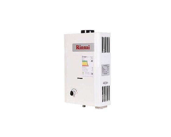 Aquecedor de água a gás Rinnai REU M07 BP CFHB - Gás Natural - Vazão 7,5L