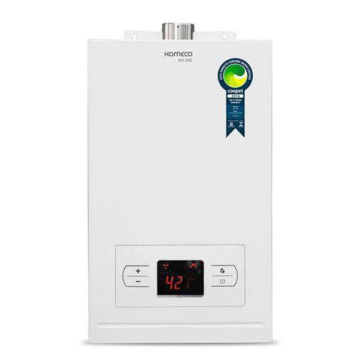 Aquecedor de água a gás Komeco KO 20D - Exaustão Forçada - Digital - Gás Natural - Vazão 20,5L