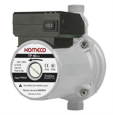 Pressurizador para aquecedor de água a gás Komeco TP 40 FERRO G4 120W - 127V