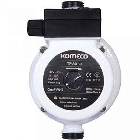 Pressurizador para aquecedor de água a gás Komeco TP80 Ferro G4 248 W - 127V