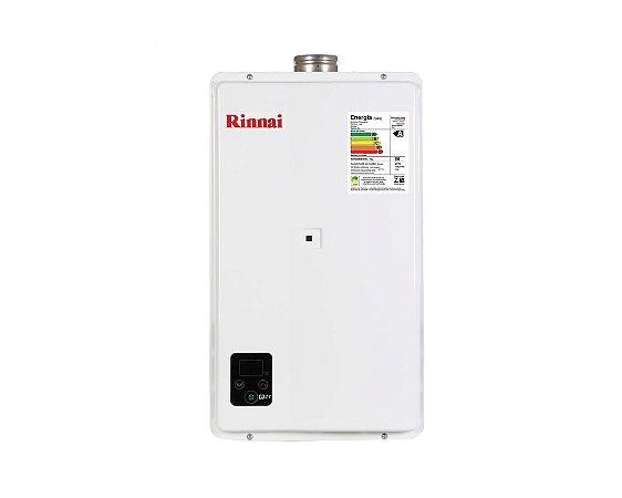 Aquecedor de água a gás Rinnai REU E27 FEH B - Exaustão Forçada - Digital - Gás Natural -  Vazão 27L