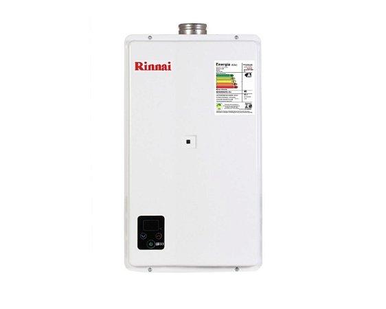 Aquecedor de água a gás Rinnai REU E330 FEH B - Exaustão Forçada - Digital - Gás Natural - Vazão 32,5L