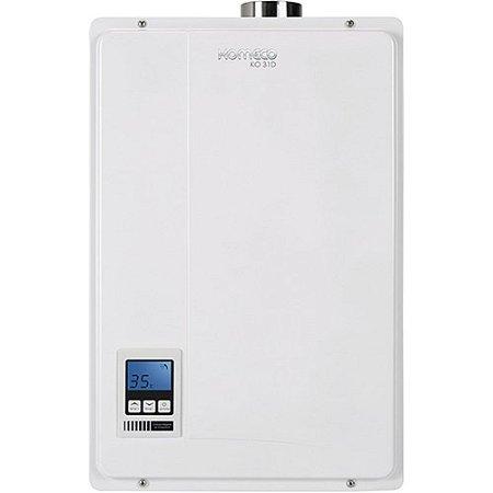 Aquecedor a de água a gás Komeco KO 31D - Digital - Exaustão Forçada - Gás Natural - Vazão 31L