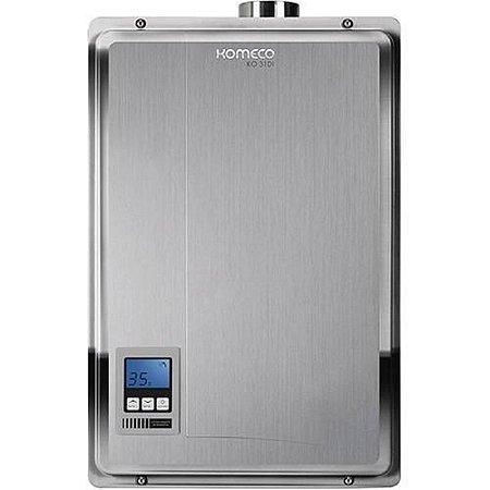 Aquecedor de água a gás Komeco KO 31D I - Digital - Inox - Exaustão Forçada - Gás Natural - Vazão 31 L