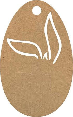 Tag Kraft Ovo de Páscoa Com Sisal Sem Personalização