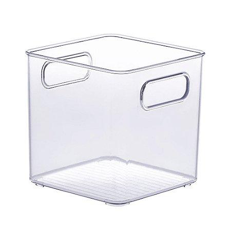 Organizador Diamond Quadrado Cristal - Pequeno