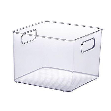 Organizador Diamond Quadrado Cristal - Médio