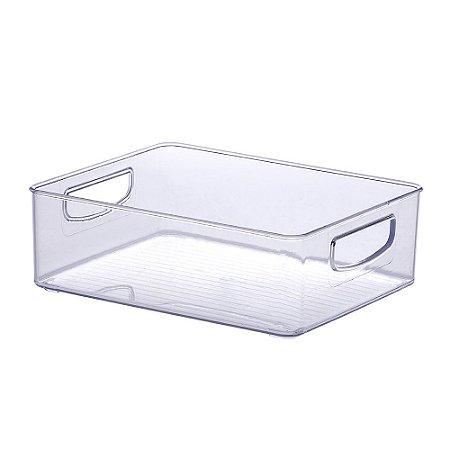 Organizador Diamond Retangular Cristal - Tam 3
