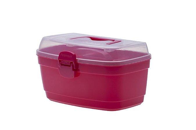 Box Multiuso Com Divisória Média Pink