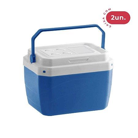 Caixa Térmica 40 Litros Azul - 02 Unidades