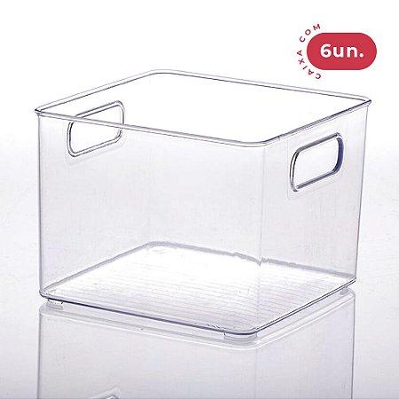 Organizador Diamond Quadrado Cristal - Médio - 06 Unidades