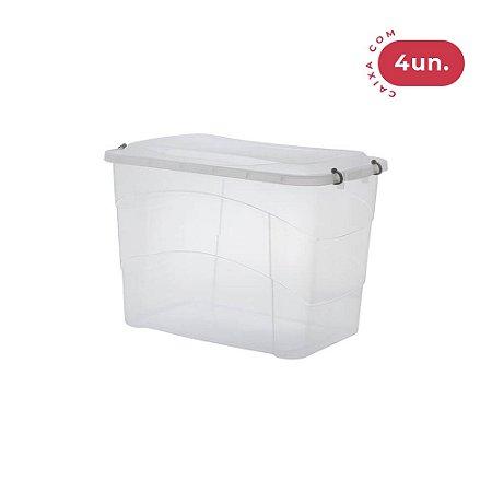 Caixa Organizadora Pratic Box 90 Litros - 04 Unidades