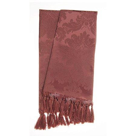 Manta para sofá em Tecido Jacquard Vinho Marsala Medalhão