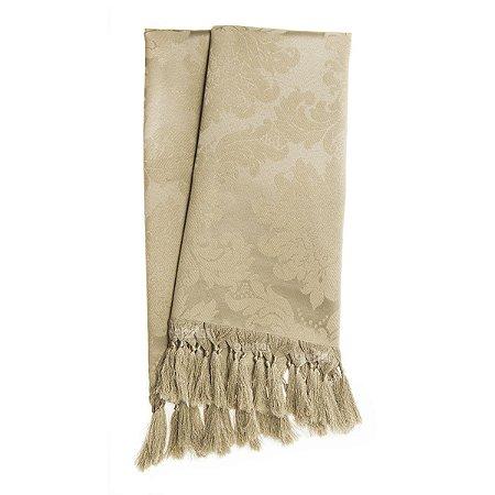 Manta para sofá em Tecido Jacquard Bege Escuro (Fendi) Medalhão