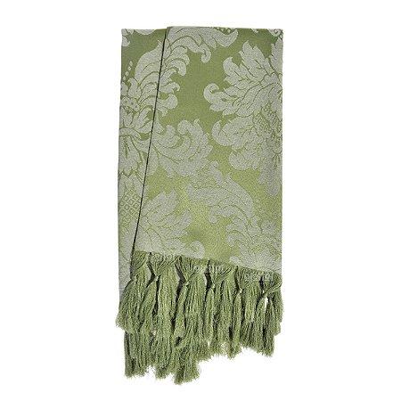 Manta para sofá em Tecido Jacquard Verde Pistache Medalhão