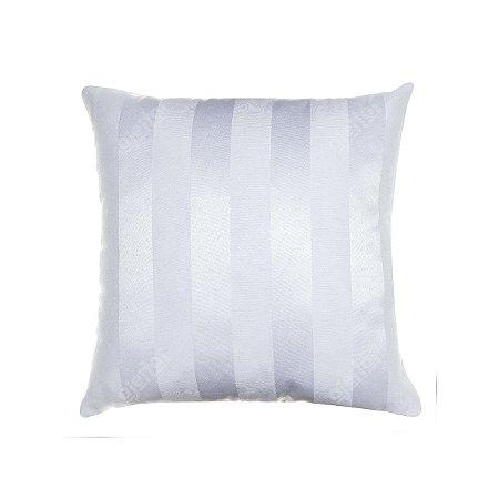 Capa Para Almofada Em Tecido Jacquard Branco Listrado
