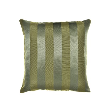 Capa para Almofada em Tecido Jacquard Verde Musgo Listrado