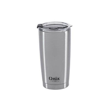 Copo Térmico Aço Inox Com Tampa - 580 ml