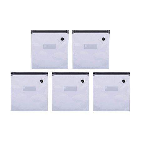 Saco a Vácuo Compact Food Médio - Kit Com 5