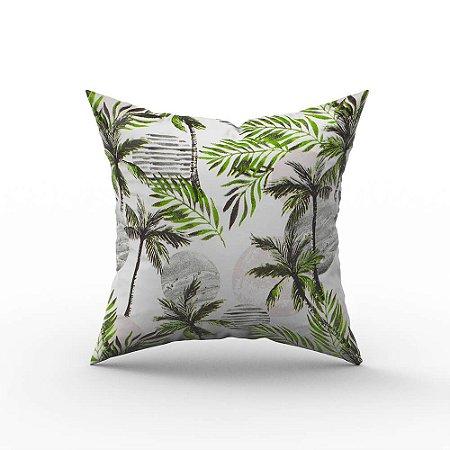 Capa De Almofada Em Tecido Impermeável Acqua Linea Palmeira Verde