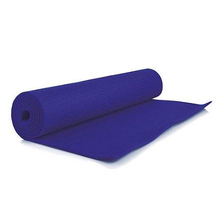 Tapete Para Ginástica Yoga Em PVC Azul