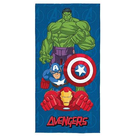 Toalha Aveludada Estampada Avengers - 70cm x 1,40m