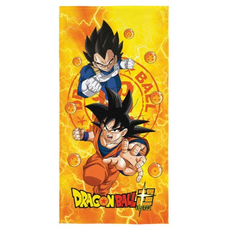 Toalha Aveludada Estampada Dragon Ball - 70cm x 1,40m