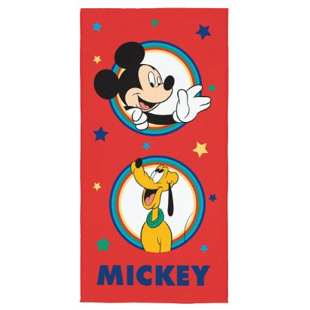 Toalha Aveludada Estampada Mickey