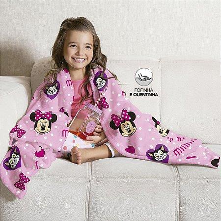 Manta Fleece de Sofá Estampada Minnie – 1,25m x 1,50m