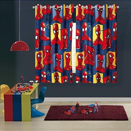 Cortina com Ilhós Infantil Estampada Spider-Man – 1,50m x 1,80m – 2 peças