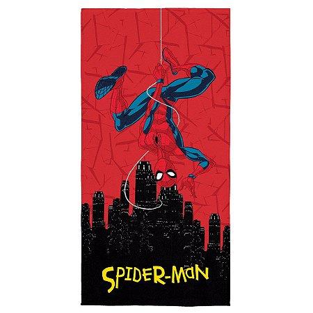 Toalha Aveludada Estampada Spider-Man - 70cm x 1,40m