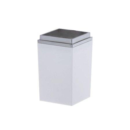 Porta Escova Bagno Quadratta Branco