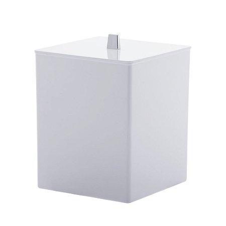 Lixeira Bagno 7 Litros Quadratta Branca