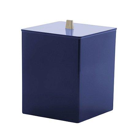 Lixeira Bagno 7 Litros Quadratta Azul