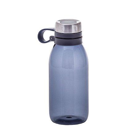 Squeeze Azul Com Tampa Em Inox 740 ml