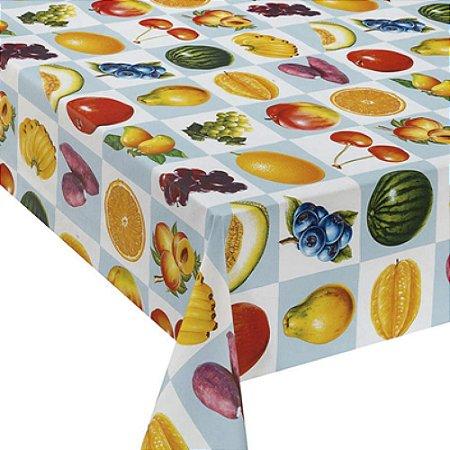 Tecido Plástico Térmico Estampado Frutas - 1,4M Largura