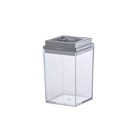 Porta Escova Bagno Quadratta Cristal