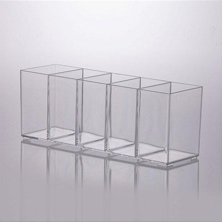 Organizador Multiuso Com 5 Divisórias 30x9x11cm