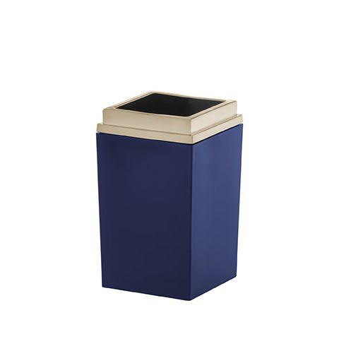 Porta Escova Bagno Quadratta Azul